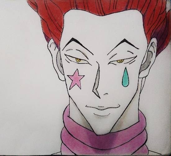 painting by Pranav Tyagi - Hisoka from hunter x hunter