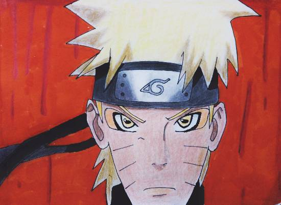 Painting  by Pranav Tyagi - Naruto from Naruto shippiden