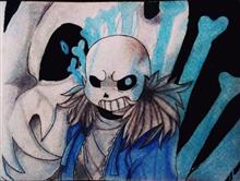 Painting  by Pranav Tyagi - Sans from undertale