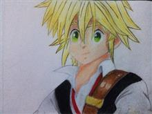 Painting  by Pranav Tyagi - Meliodas from the seven deadly sins