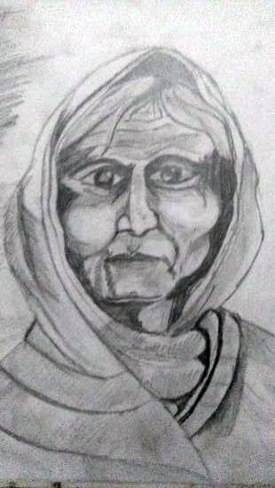 Painting  by Prerna Jain - Old woman