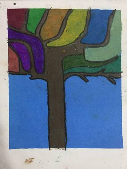 Painting  by Riya Satyaprasad Bhat - Tree