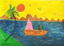 Painting  by Amelia Ajith John - Boat