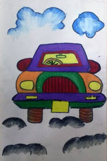 Painting  by Sejal Vishnu Khandelwal - Car