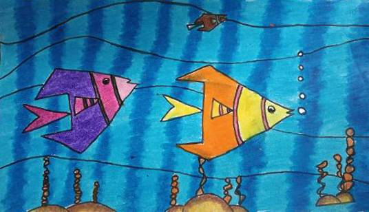 Painting  by Sejal Vishnu Khandelwal - Fish
