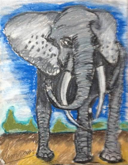 Painting  by Simran Kaur - The Elephant