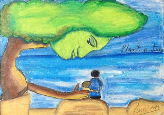 Painting  by Simran Kaur - Tree - Best Friend