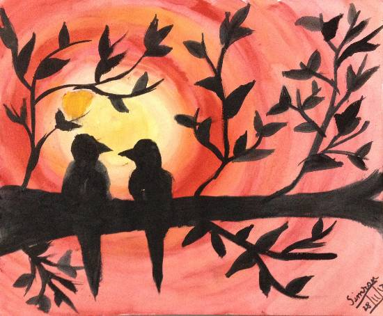 Painting  by Simran Kaur - Sunset