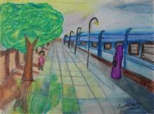 Painting  by Simran Kaur - Train