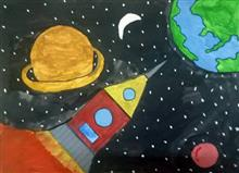 Painting  by Varad Amol Kanade - Outer space