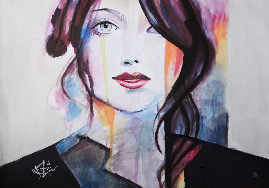 Painting  by Pranjal Singh - The girl