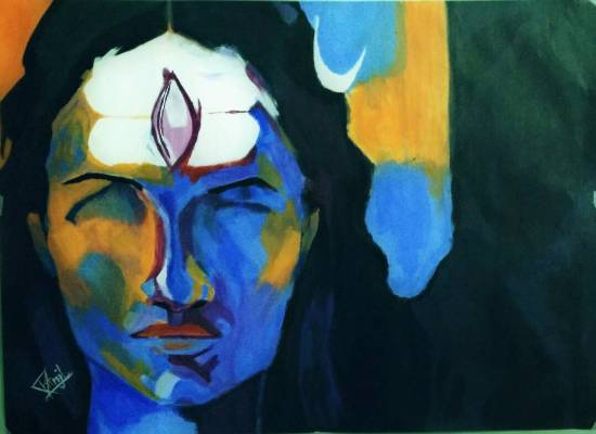Painting  by Pranjal Singh - Abstract shiva