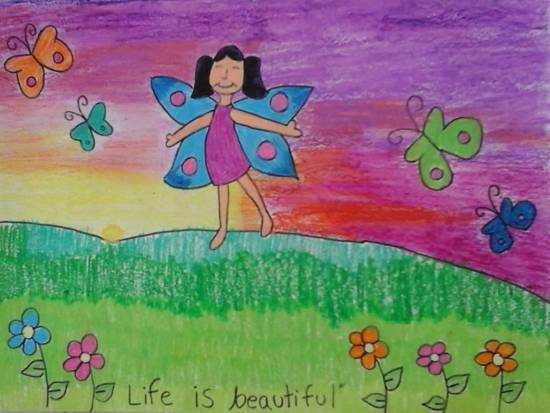 Painting  by Ananya Jhalani - Butterfly