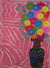 Painting  by Ananya Jhalani - Flower pot