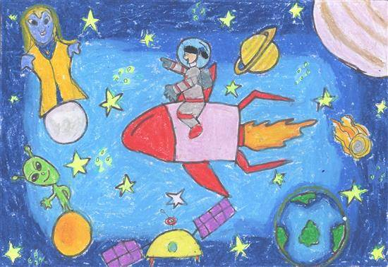 Painting  by Ananya Shibanisankar Kanungo - Outer space