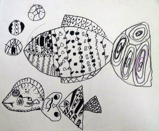 Painting  by Ananya Ambarish Paranjpe - Fishes