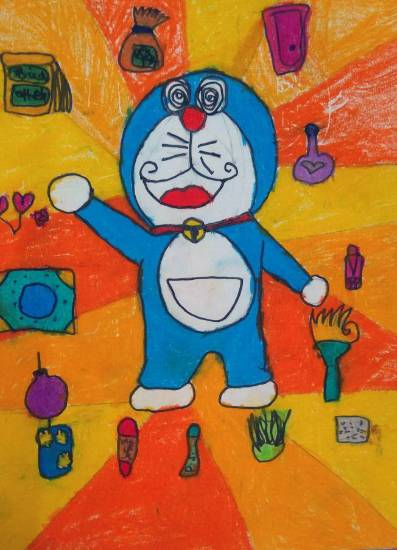 Painting  by Ananya Ambarish Paranjpe - Doraemon