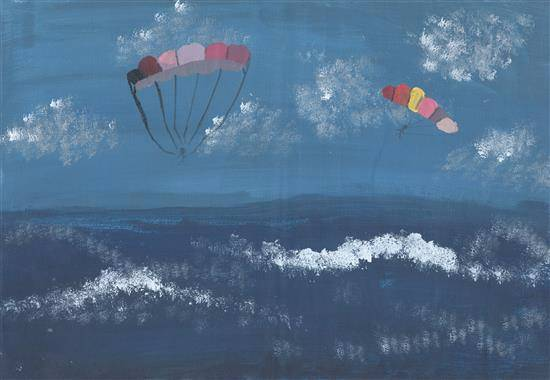 Painting  by Anuska Biswas - Paragliding