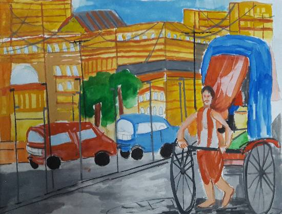 painting by Arnav Dulal Ghosh - Street