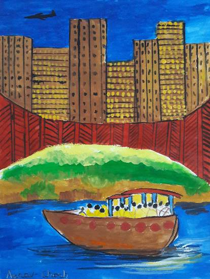 painting by Arnav Dulal Ghosh - Boat