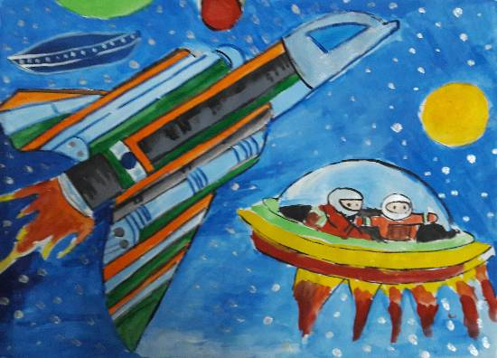 painting by Arnav Dulal Ghosh - Outer space