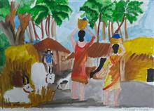 Painting  by Arnav Dulal Ghosh - Village