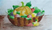 Painting  by Arnav Dulal Ghosh - Vegetables