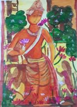 Painting  by Arnav Dulal Ghosh - Padmapani