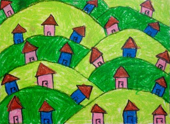 Painting  by Asmi Chirag Shah - Houses