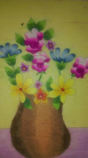 Painting  by Darsh Anubhav Agarwal - Flower pot