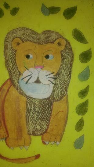 Painting  by Darsh Anubhav Agarwal - Lion