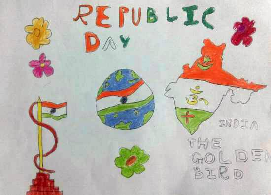 Painting  by Darsh Anubhav Agarwal - Republic day