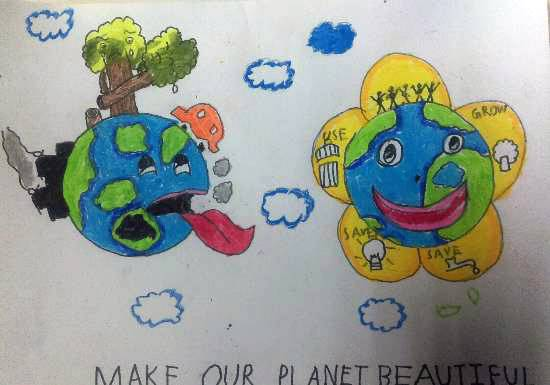 painting by Darsh Anubhav Agarwal - Make our planet beautiful