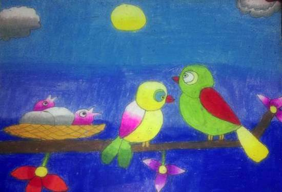 Painting  by Darsh Anubhav Agarwal - Birds