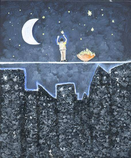 Painting  by Darsh Anubhav Agarwal - Starry Night