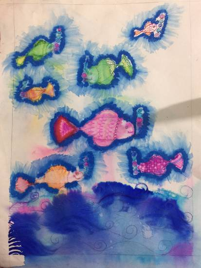 Painting  by Deeva Sajith Abraham - Doodle n Bubbles - 2