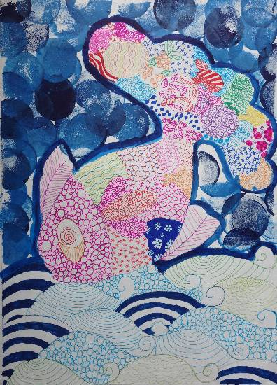 Painting  by Deeva Sajith Abraham - Doodle n Bubbles - 1