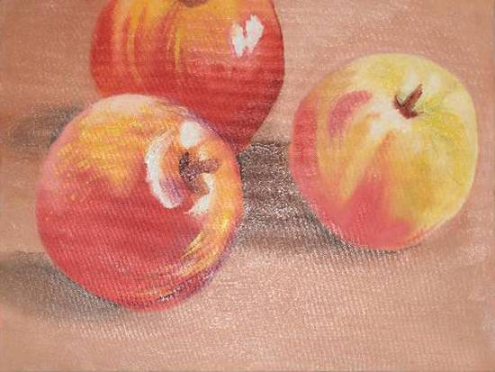 painting by Divyangi Deepak Pandit - Apples