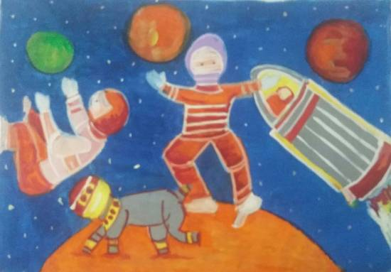 painting by Ekta Ashish Gupta - Outer Space