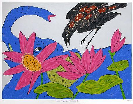 Cuckoo Crow at II, print by Amit Ambalal
