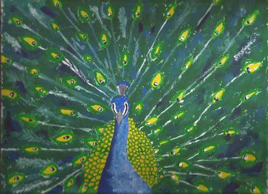 Painting  by Gitanjali Subhash Paul - Peacock