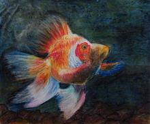 Painting  by Gitanjali Subhash Paul - Gold Fish