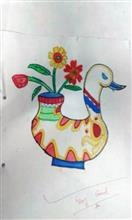 Painting  by Amey Sandeep Sawant - Flower pot
