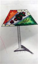 Painting  by Amey Sandeep Sawant - Table Lamp