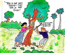 Painting  by Arpita Mandal - Save Trees