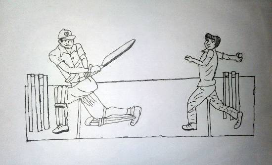 Painting  by Ashutosh Jangam - Cricket