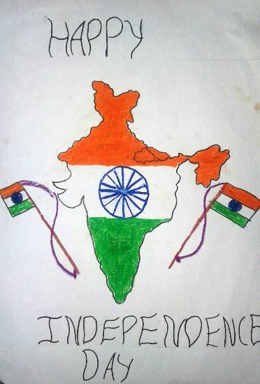 Painting  by Ashutosh Jangam - Happy Independence Day