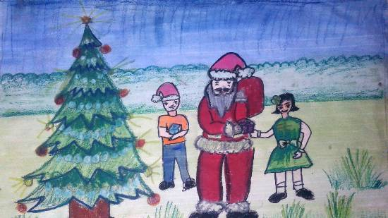Painting  by Ashutosh Jangam - Santa clause