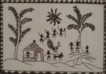 Khula Aasmaan theme - Tribal Art