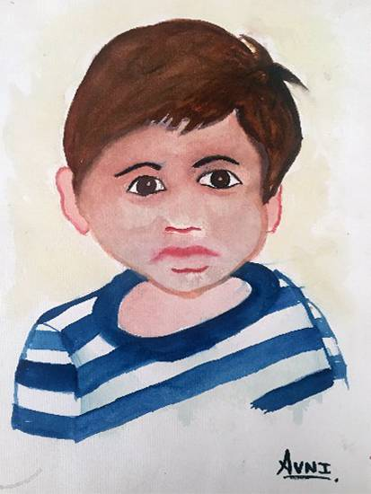 painting by Avni Rastogi - The boy